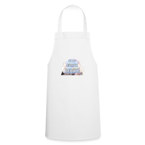 Flat Earth Debate Cartoon - Cooking Apron