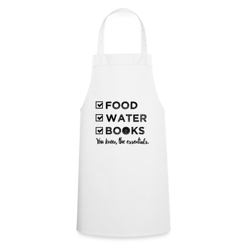 0261 Books, Water & Food - You understand? - Cooking Apron