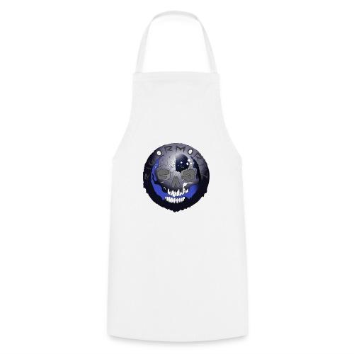 Rigormortiz Metallic Blue-Black Design - Cooking Apron