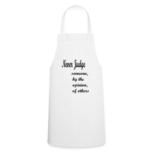 Never Judge - Cooking Apron