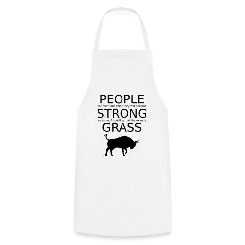 Strong People are Vegan - Kochschürze