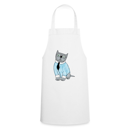 Cat with glasses - Cooking Apron