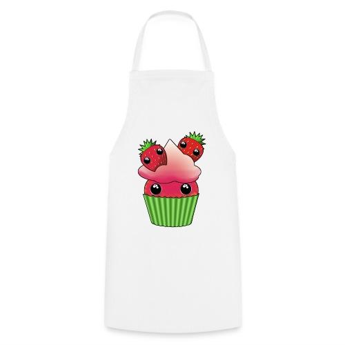 Cute strawberry kawaii cupcake - Cooking Apron