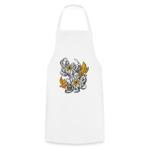 Chrysanthèmes enlacés - Tablier de cuisine