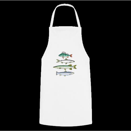 10-34 FOUR FISH - Ahven, siika, hauki ja taimen - Esiliina