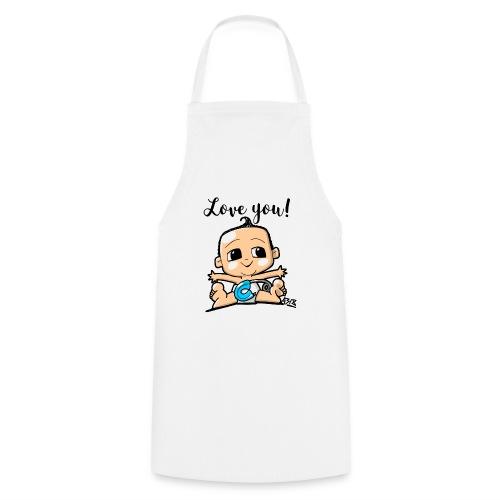baby boy color - Keukenschort