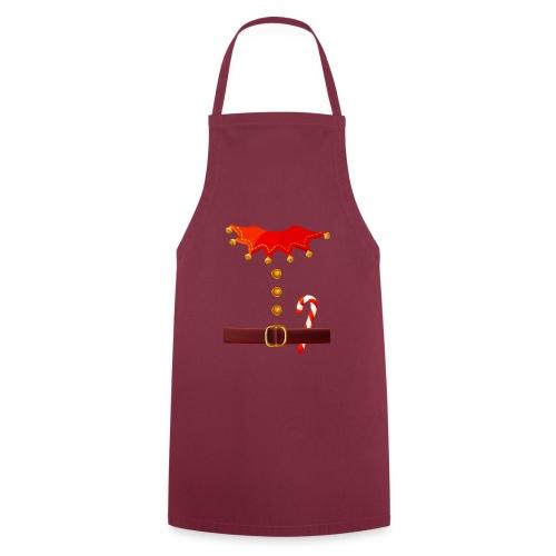 Regalo divertido de disfraz de duende de Santa para los amantes de Navidad - Delantal de cocina