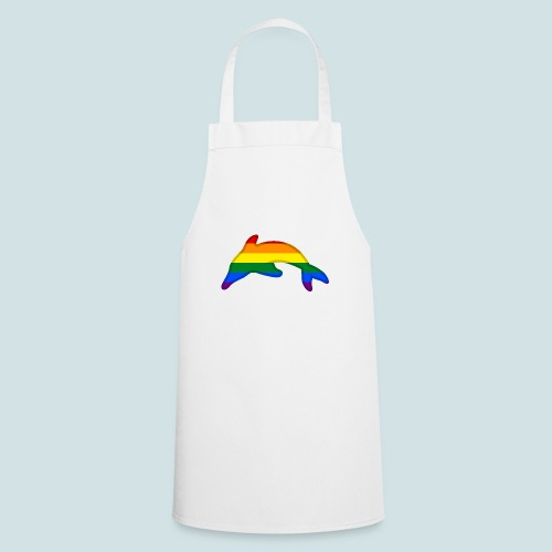 Gay / Rainbow Dolphin - Cooking Apron