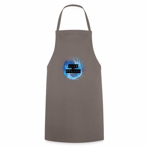 Make a Splash - Aquarell Design in Blau - Kochschürze