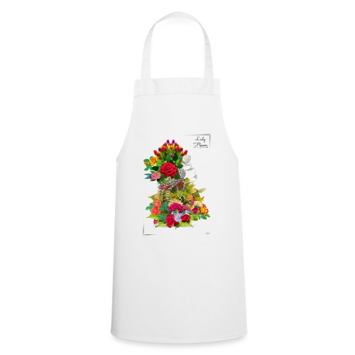 Lady flower -by- T-shirt chic et choc - Tablier de cuisine