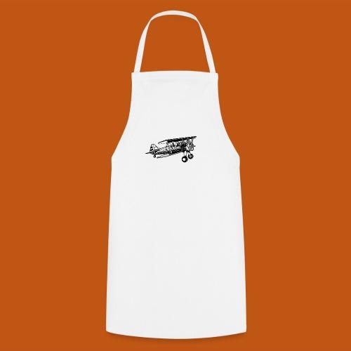 Flieger / Airplane 01_schwarz weiß - Kochschürze