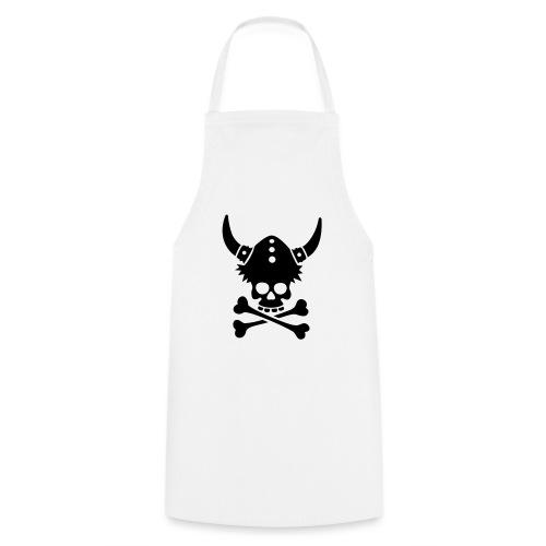 Totenkopf mit Wikingerhelm - Kochschürze