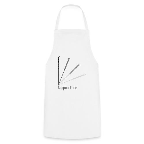Acupuncture Eventail (logo noir) - Tablier de cuisine