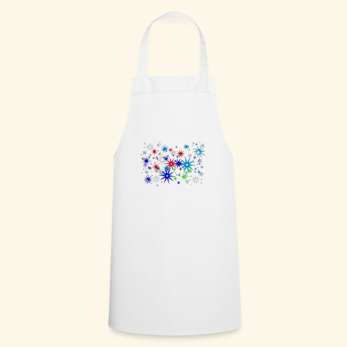 Star Snowflakes falling colourful - Cooking Apron