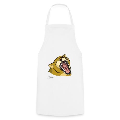Gähnender / brüllender Löwe - Kochschürze