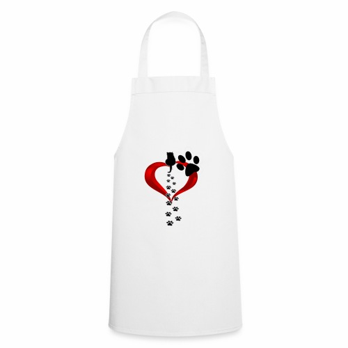 Pawcat heart - Grembiule da cucina