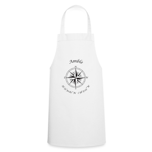 Amble, Northumberland Compass (black) - Cooking Apron