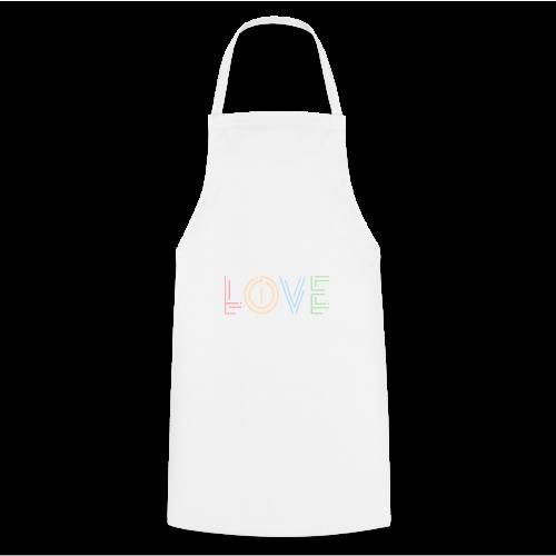 Liebe | Schriftzug kreativ bunt - Kochschürze