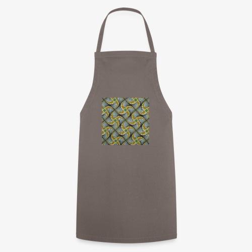 Design motif jaune vert gris - Tablier de cuisine