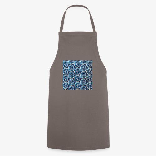 Spirales au motif bleu - Tablier de cuisine