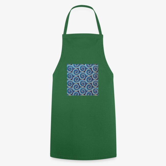 Spirales au motif bleu