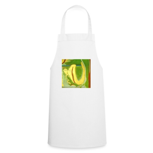 Abstract Green Gold Red - Cooking Apron