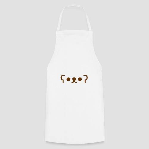 Kuma Kaomoji (Marron) - Tablier de cuisine