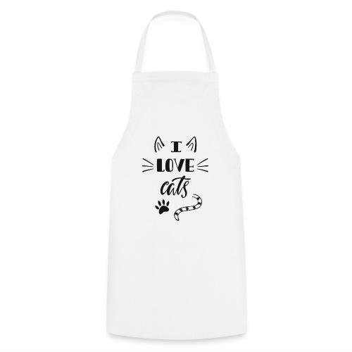 I love cats - Kochschürze