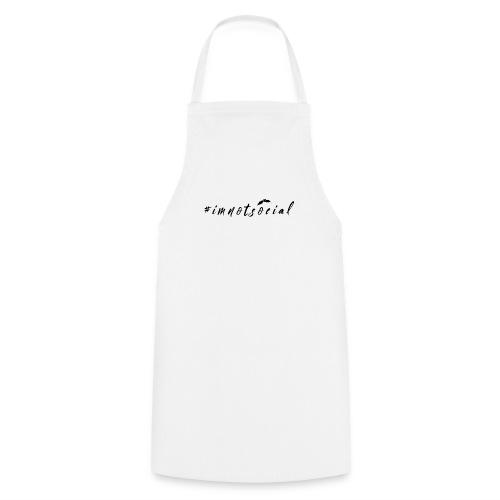 #imnotsocial logo - Grembiule da cucina
