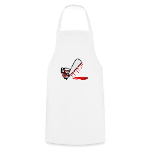 T shirt humeur tronçonneuse en sang votre texte FC - Tablier de cuisine