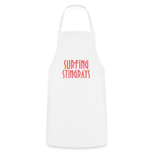 Surfing stingrays rooie letters logo - Keukenschort