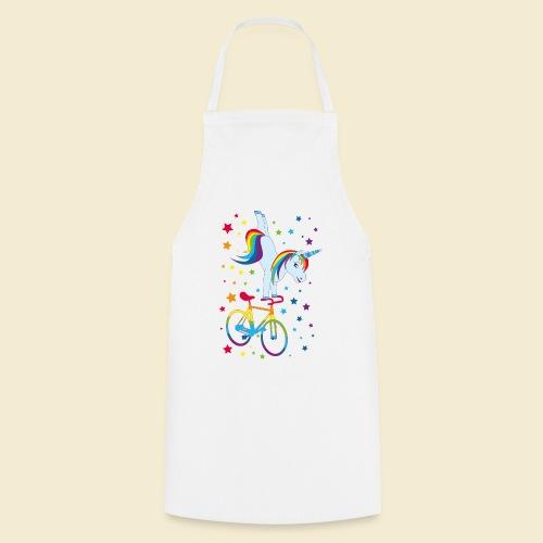 Kunstrad   Einhorn Handstand Regenbogen - Kochschürze