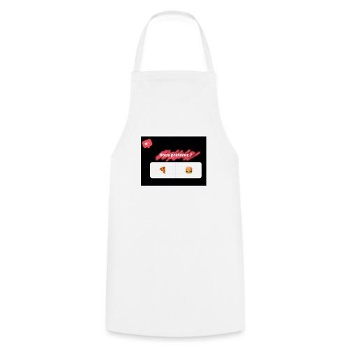la pizza ou le hamburger choisissez votre camps PB - Tablier de cuisine