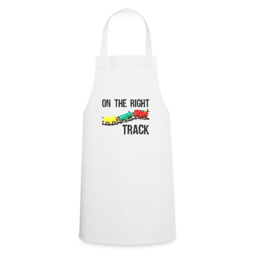 On The Right Track Positive Design Train on Track. - Cooking Apron