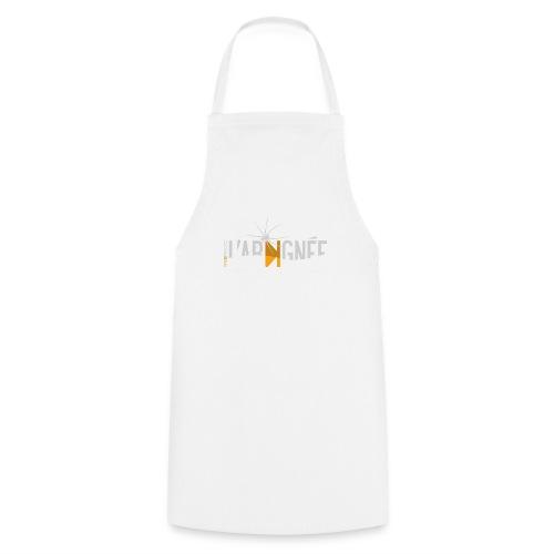 L'Araignée, le logo clair pour fond foncés - Tablier de cuisine