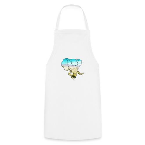 Elefant mit Steppe - Kochschürze