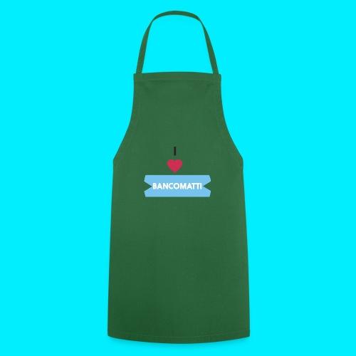 I LOVE BANCOMATTI CUOREnero - Grembiule da cucina
