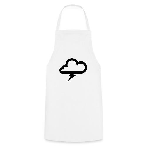 Wolke mit Blitz - Kochschürze