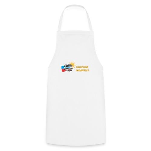 Philippinen-Blog Logo deutsch schwarz/orange - Kochschürze