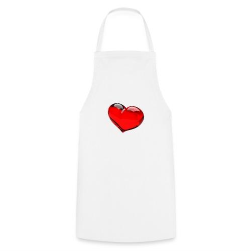 serce 3D - Fartuch kuchenny