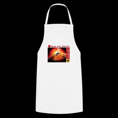 Save our planet. Fukushima Theme - Kochschürze