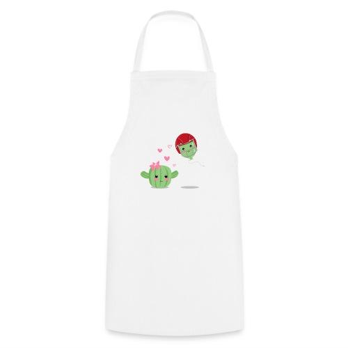 Cactus y Globo, amor - Delantal de cocina