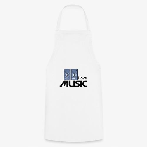 Amo la música 01 - Delantal de cocina