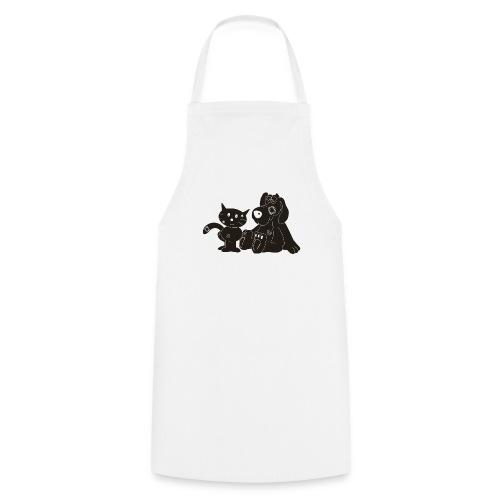 logo fondo negro - Delantal de cocina