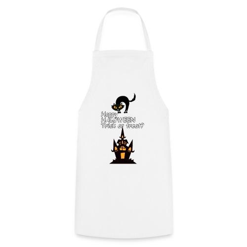 CAT LOVE CHAT AMOUR HALOWEEN - Tablier de cuisine