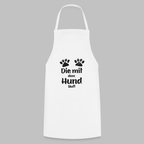 Die mit dem Hund läuft - Pfote - Black Edition V2 - Kochschürze