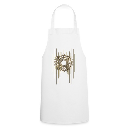 Abstract Geometry Gold Metal Art Deco Vintage - Cooking Apron