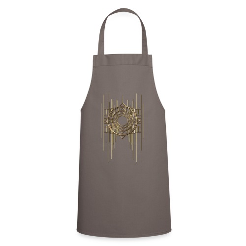 Abstract & Geometric - Gold Metal - Cooking Apron