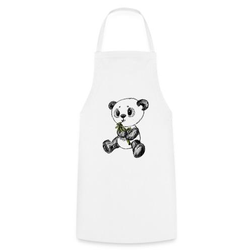 Panda Bär farbig scribblesirii - Kochschürze