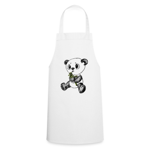 Panda bear colored scribblesirii - Cooking Apron